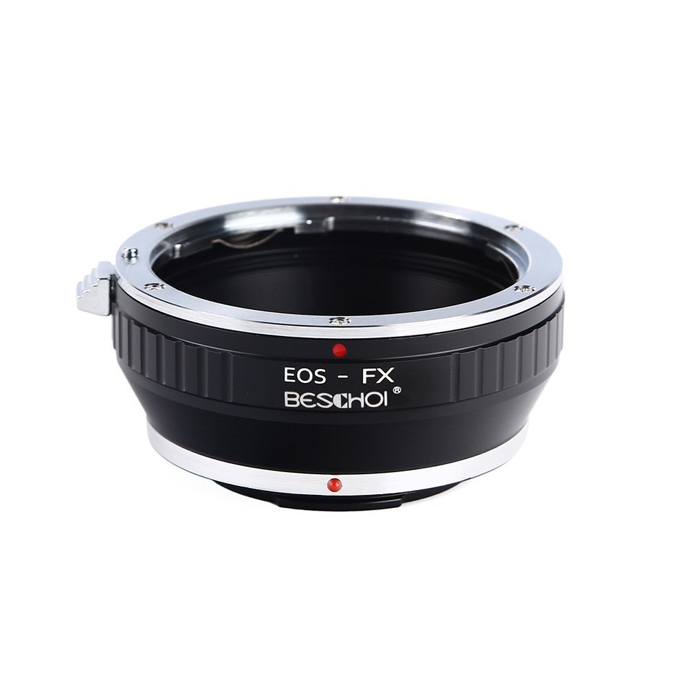 Adaptador EOS-FX Beschoi Adaptador de Montura para la Lente de Canon EOS EF//EFS a Fujifilm X C/ámara Adaptador de Lente EOS-FX