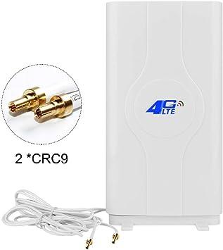 NETVIP 4G Antena 49dBi 4G LTE Antena CRC9 Mimo Dual WiFi Signal Booster Amplificador De Red para WiFi Router Recepción De Banda Ancha Móvil De Larga ...