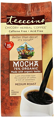 Teeccino Mediterranean Mocha Herbal Coffee, 0.83 Pound
