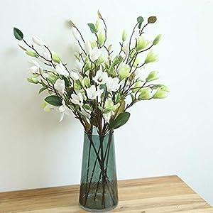 MARJON FlowersArtificial Flowers, Decorative Magnolia Fake Flower Floral for Home Decor Wedding Bouquet (Green) 90