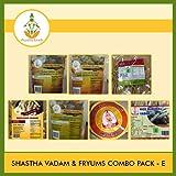 Shastha Vadam Combo Pack E (Contains 9 Items) Shastha(Vazhathandu Rice Onion-2, Chilly Onion-1, Rice Stick-1, Rice Murukku-1, Oma Murukku-1) Vadam & Appalam (# 3)-1 (T-M)
