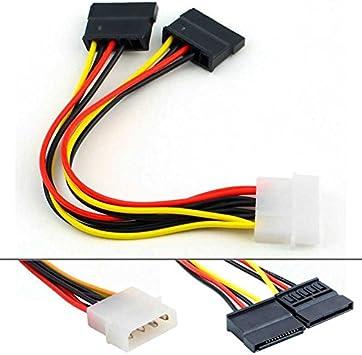 OcioDual Cable IDE Molex a Sata con Doble Adaptador para Alimentar ...