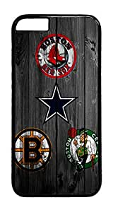 iPhone 6 Case, iPhone 6 Cases - Wood Four Boston Team Black PC Plastic Bumper Hardshell Snap-on Case for iPhone 6 4.7 Inch