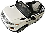 range rover electric car - Range Rover Style Premium Ride On Electric Toy Car For Kids - 12V10A Battery Powered - RC Parental Remote Controller - Leather Seat - Boys & Girls - White