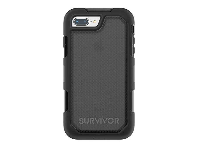low priced 889d4 58661 Griffin Survivor Extreme iPhone 8 Plus Rugged Case - Impact Resistant Case  with Holster, Black/Smoke