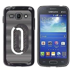 Shell-Star Arte & diseño plástico duro Fundas Cover Cubre Hard Case Cover para Samsung Galaxy Ace 3 III / GT-S7270 / GT-S7275 / GT-S7272 ( 0 Lines Black White O Zero Nothing )