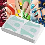 2 Colors 100pcs Nail Art Tip Extension Guide UV Gel Sticker Manicure Tools,Suitable for professional use or personal use(Green)