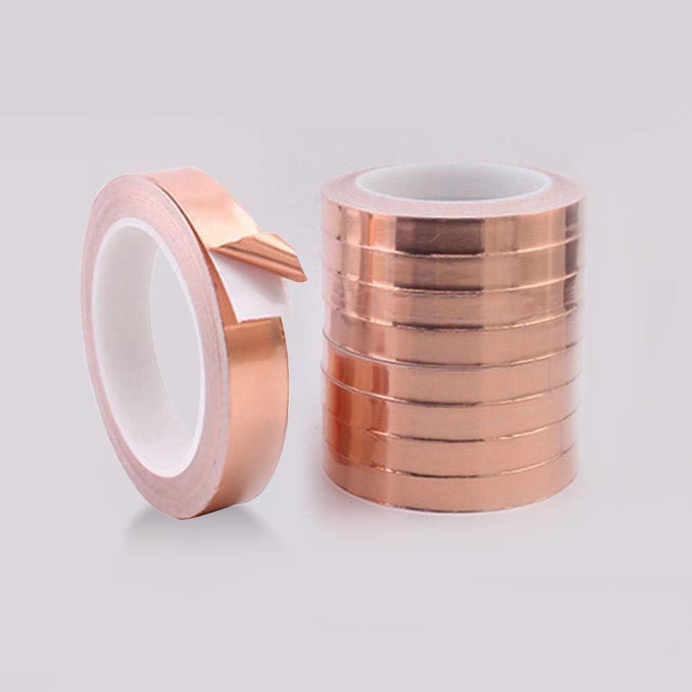 5 mm x 20 m Mehrfarbig selbstklebend dljztrade Kupferfolien-Klebeband