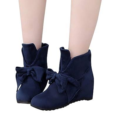 Tianwlio Frauen Herbst Winter Stiefel Schuhe Stiefeletten