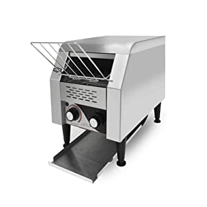 KWS CT-150 Commercial 1300W Electric Stainless Steel Conveyor Toaster for Restaurant and Home Use