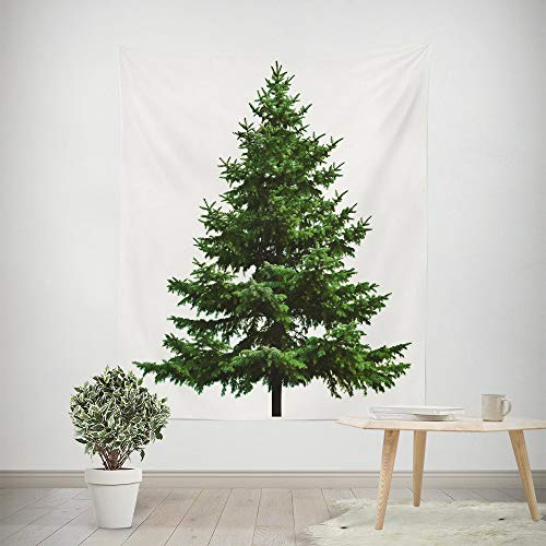 - HP95 Christmas Pine Tree Tapestry|Polyester Fabric Wall Decor for Bedroom Decor for Xmas Festival Party Home Decoration-59.1