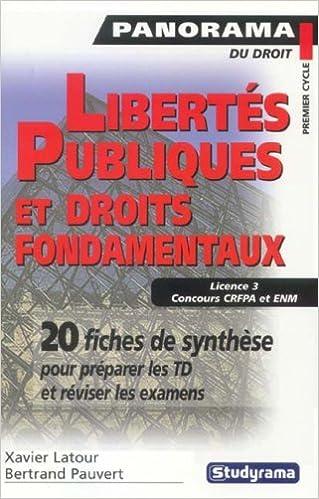Livres Libertés publiques et droits fondamentaux pdf
