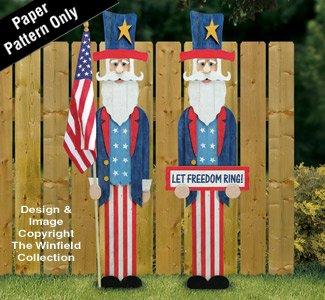 Pallet Wood Uncle Sam Pattern -