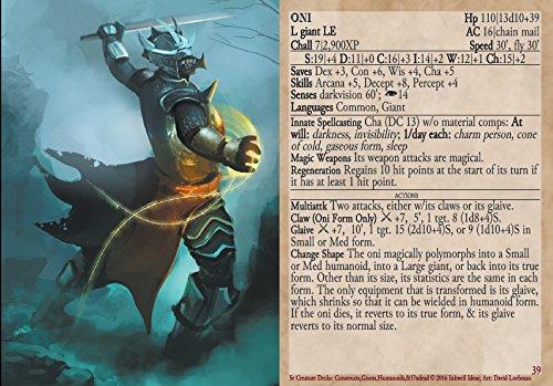 5e Creature Decks: Constructs, Giants, Humanoids, & Undead