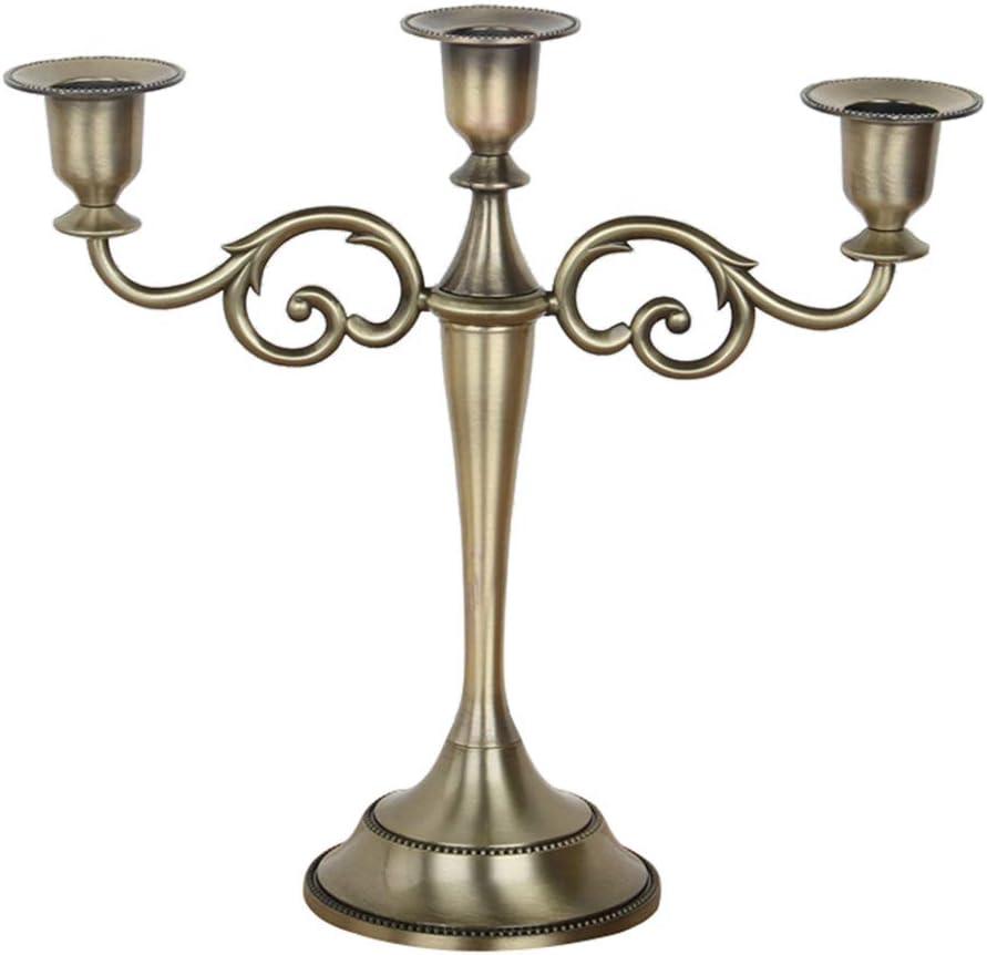 26.5x27cm Kentop Candelabro a 3 bracci portacandele da tavolo in metallo Candelabro per matrimonio Home Decor argento