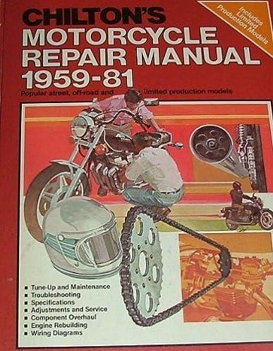 chilton s motorcycle repair manual 1981 and maintenance rh amazon com chilton's motorcycle repair manual Chilton Manuals PDF