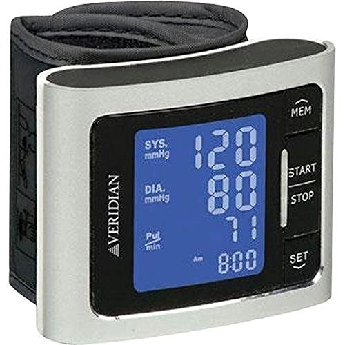 Cheap Veridian Healthcare Metallic Style Wrist Blood Pressure Monitor, Silver