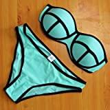 Fashiongallery Mujeres trajes de baño del traje de baño del bikini empujan hacia arriba el triángulo