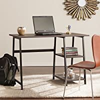 Southern Enterprises Austin Writing Desk, Chocolate Brown/ Black
