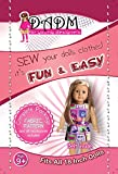 18 INCH DOLL CLOTHES, KIDS SEWING PROJECT KIT, FOR THE LITTLE FASHION DESIGNER, FABRIC and PATTERN, FITS AMERICAN GIRL DOLL