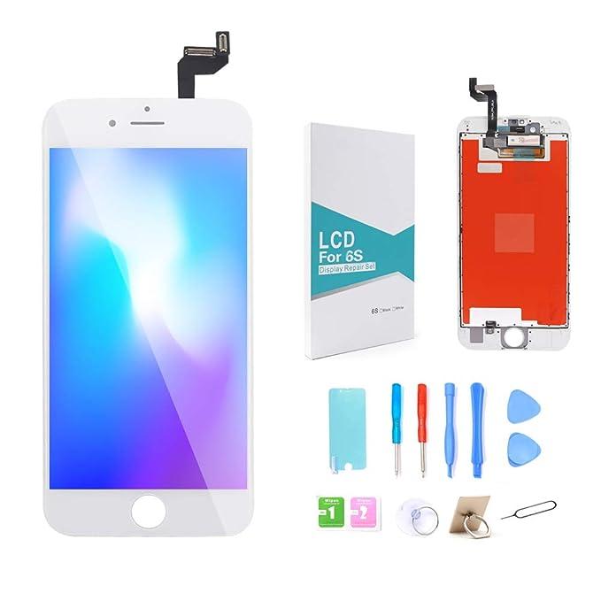GLOBALGOLDEN Reemplazo de Pantalla para iPhone 6S 4.7 Blanco,Pantalla táctil LCD y ensamblaje de Marco digitalizador con Kit de reparación Completo para ...