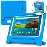 Samsung Galaxy Tab E 9.6 case for kids [SHOCK PROOF KIDS TAB E CASE] COOPER DYNAMO Kidproof Child Tab E 9.6 inch Cover for Boys, Toddlers | Light, Kid Friendly Handle & Stand, Screen Protector (Blue)