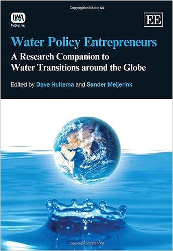 water policy entrepreneurs huitema dave meijerink s ander
