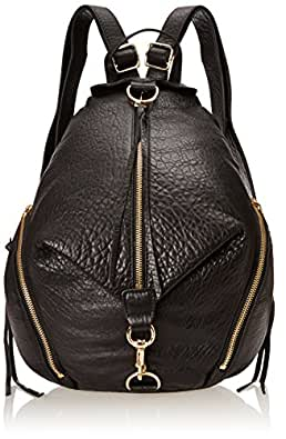 Rebecca Minkoff Julian Backpack Handbag, Black/Black,One Size