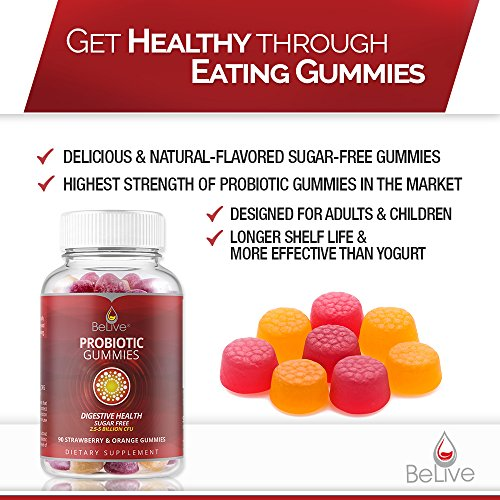 Probiotic Sugar-Free Gummies for Kids, Men, and Women ...