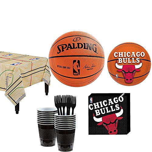 Party City Chicago Bulls Party Kit and Supplies for 16 Guests, Includes Table Cover, Plates and More]()