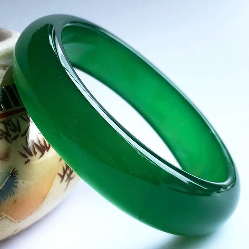Imperial Ice Green Jade Bracelet Piedras Preciosas Naturales Energía curativa Brazalete Genuino 54-62mm