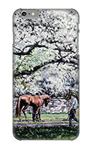 Ellent Design Springtime At Keeneland Case Cover For Iphone 6 Plus For New Year's Day's Gift