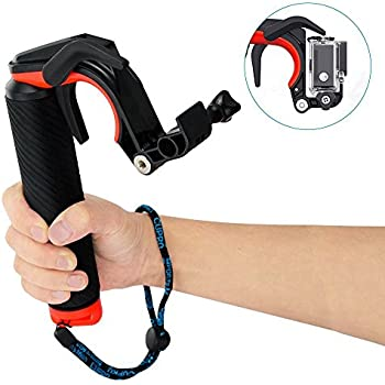 Mystery GoPro Waterproof Pistol Shutter Trigger Kit Floating Hand Grip Diving Buoyancy Stick Monopod Tripod Mount for Gopro HD Hero SJCAM Xiaomi Yi Action Cameras and Sports Camera with 1/4 Screw Hole