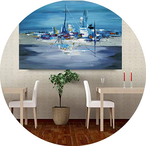 three thousand Abstract Boat Canvas Oil Painting Printed on Canvas City Art Canvas Paintings for Study Room or Bedroom Decor,70x100cm no Frame