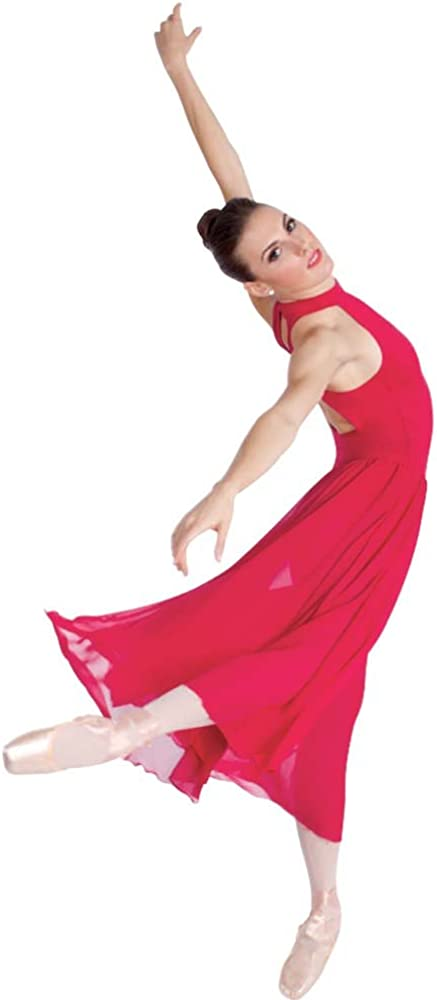 Body Wrappers Long Mock Dance Dress T-Neck List price 2021 spring and summer new