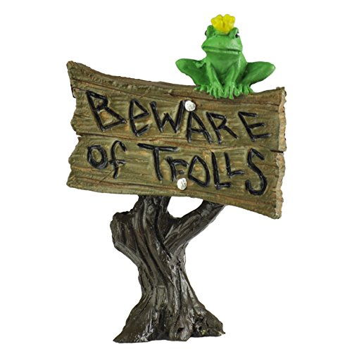 Frog Garden Sign (Georgetown Home & Garden Miniature Frog Sign