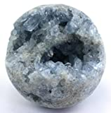Crystal Allies Specimens: Natural Celestite Sphere - w/ Authentic Crystal Allies Stone Card (1/2lb - 1lbs)