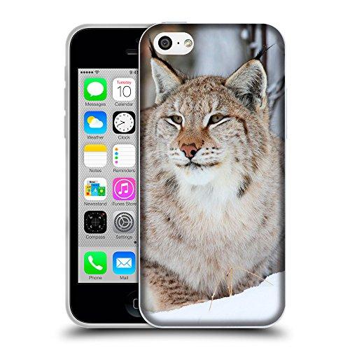 Just Phone Cases Coque de Protection TPU Silicone Case pour // V00004146 Sauvage lynx des animaux dans la neige // Apple iPhone 5C