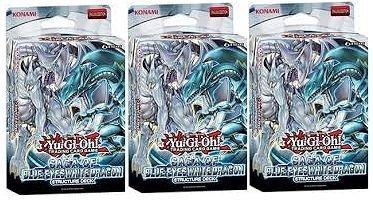 YuGiOh 3x Saga of Blue-Eyes White Dragon Structure - Saga White
