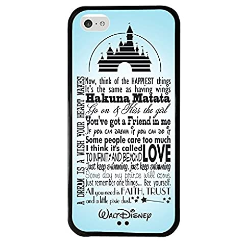 iPhone 5c case, Onelee Walt Disney Quotes Tire tread pattern TPU Rubber Black iPhone 5c Case Neverfade Scratchproof (Disney Cell Phone Cases Iphone 5c)