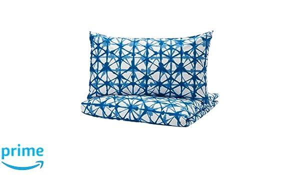 s New IKEA STJARNFLOCKA Duvet cover and pillowcase white blue 704.277.87