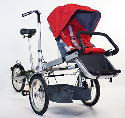 STROLLER BIKE. NEW 3 WHEELS FOLDING STROLLER BICYCLE MOTHER BABY TAGA STYLE BIKE , GREEN COLOR