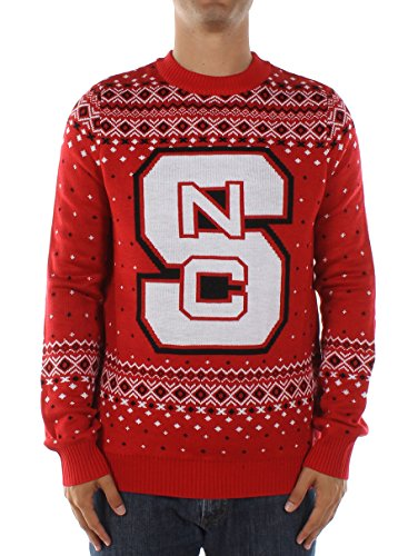 Tipsy Elves Men's North Carolina State University Sweater: (Red North Carolina State University)