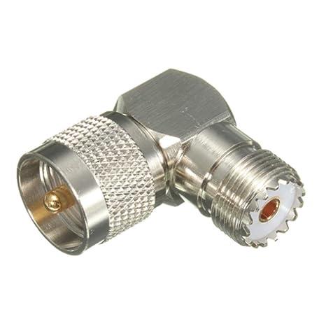 GEZICHTA RF coaxial Adaptador coaxial, UHF Macho PL259 a Hembra SO239 Jack Tipo F Adaptador