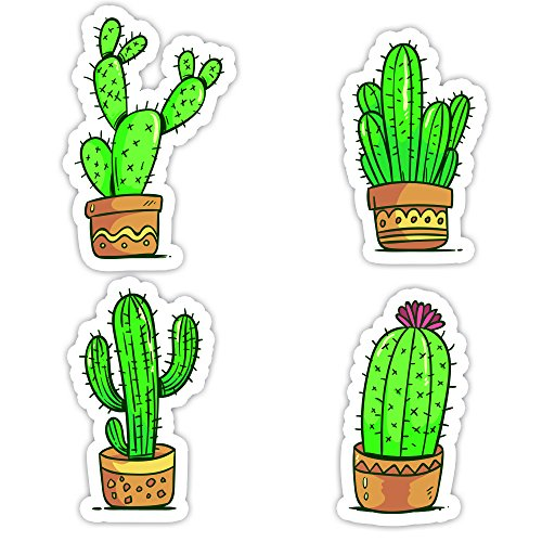 Cactus Collection - 4 Stickers 2