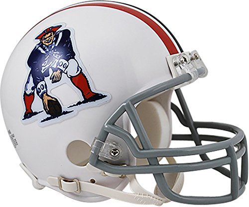 Throwback Football Helmet Nfl (Sports Memorabilia Riddell New England Patriots Throwback 1965-1981 VSR4 Mini Football Helmet - NFL Mini Helmets)