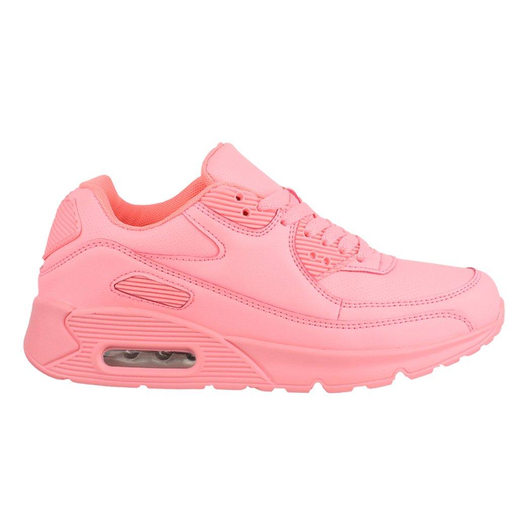 Elara Damen Herren Sneaker | Unisex Sport Chunkyrayan Laufschuhe | Turnschuhe | Chunkyrayan Sport Pink Barca 245fbb