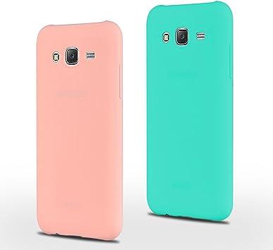 SpiritSun 2 x Funda para Samsung Galaxy J5, Soft Carcasa Funda Diseño Mate Ultrafina TPU Bumper Suave Silicona Piel Carcasa Ultra Delgado y Ligero Goma Flexible Protectora Case: Amazon.es: Electrónica