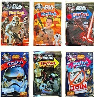 Star Wars - Set of 10 Assorted Disney Play Pack Grab & Go - Party coloring and activity play packs by Disney: Amazon.es: Juguetes y juegos