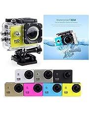 dinoek Fotocamera Sportiva Subacquea 30M Impermeabile DV HD 1080P Videocamera
